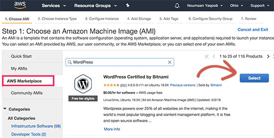 How to install WordPress on Amazon Web Services 3