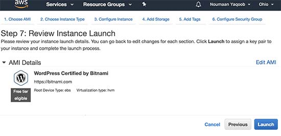 How to install WordPress on Amazon Web Services 6